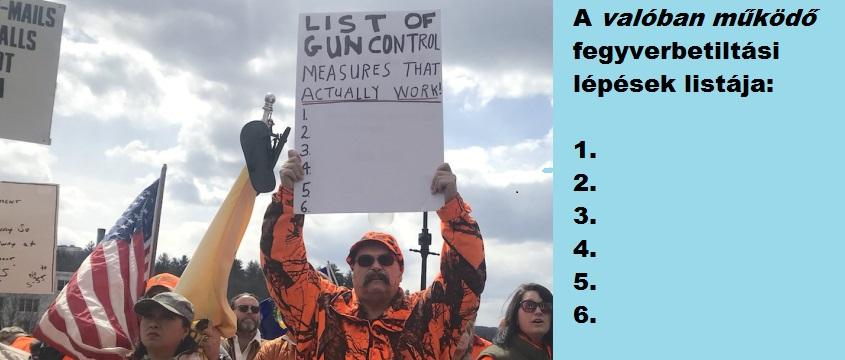 A valóban működő fegyverbetiltási lépések rövidke listája
