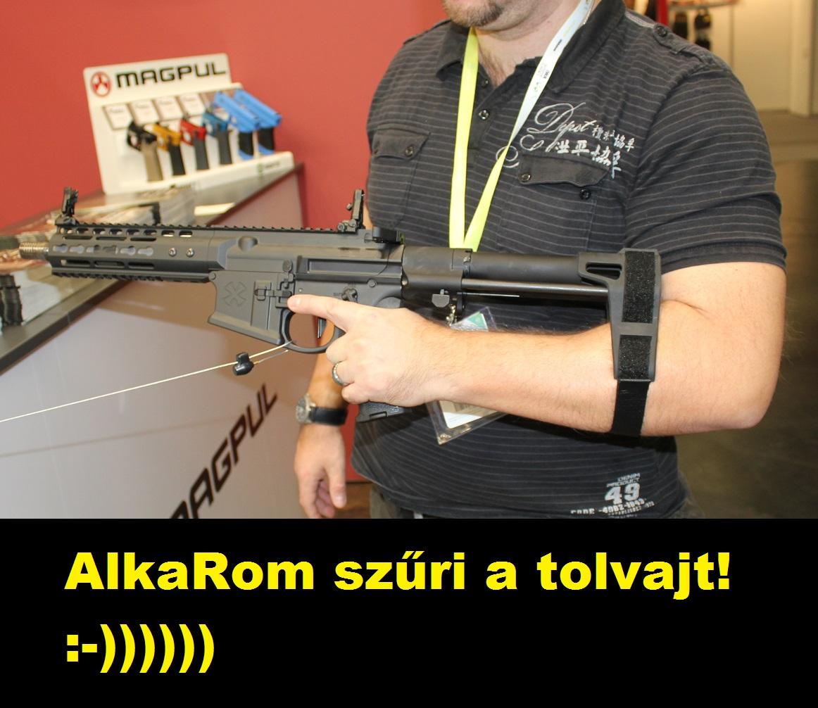 AlkaRom szűri a tolvajt! :-)) (Noveske AR-pistol)
