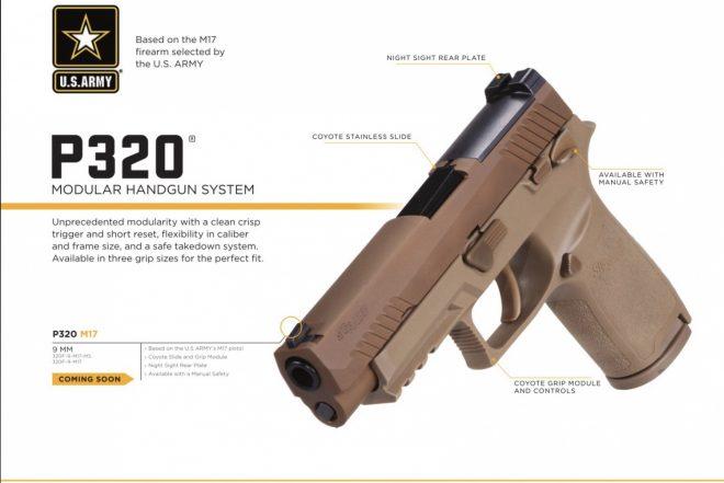 A SIG G19X-e: P320 M17 hadipisztoly civil kiadása