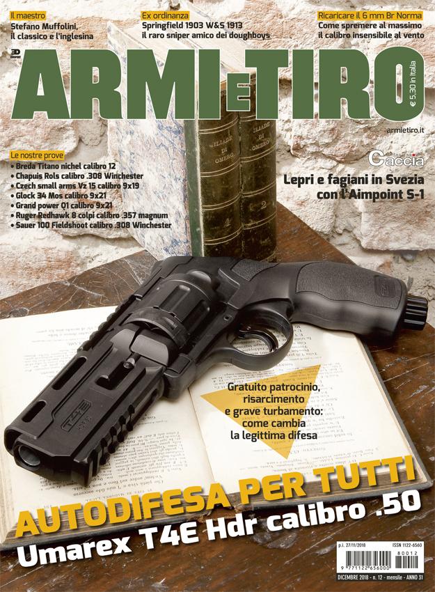 Az európai helyzet fokozódik: a legnagyobb olasz fegyverújság karácsonyi számának címlapján nem halálos szabadon tartható önvédelmi fegyver van!