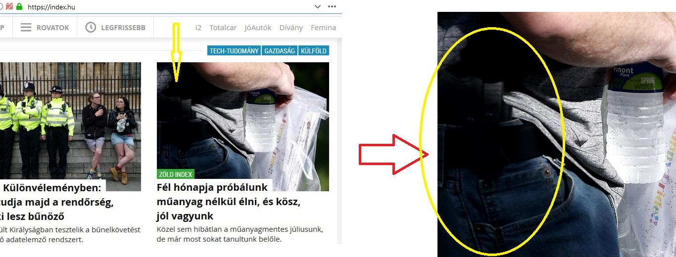 Press: FAIL:-)) Avagy, amikor a fegyverellenes Index címlapjára fegyverviselő kerül