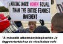 Egy tegnapi washingtoni-i demonstráló tanulságos táblája