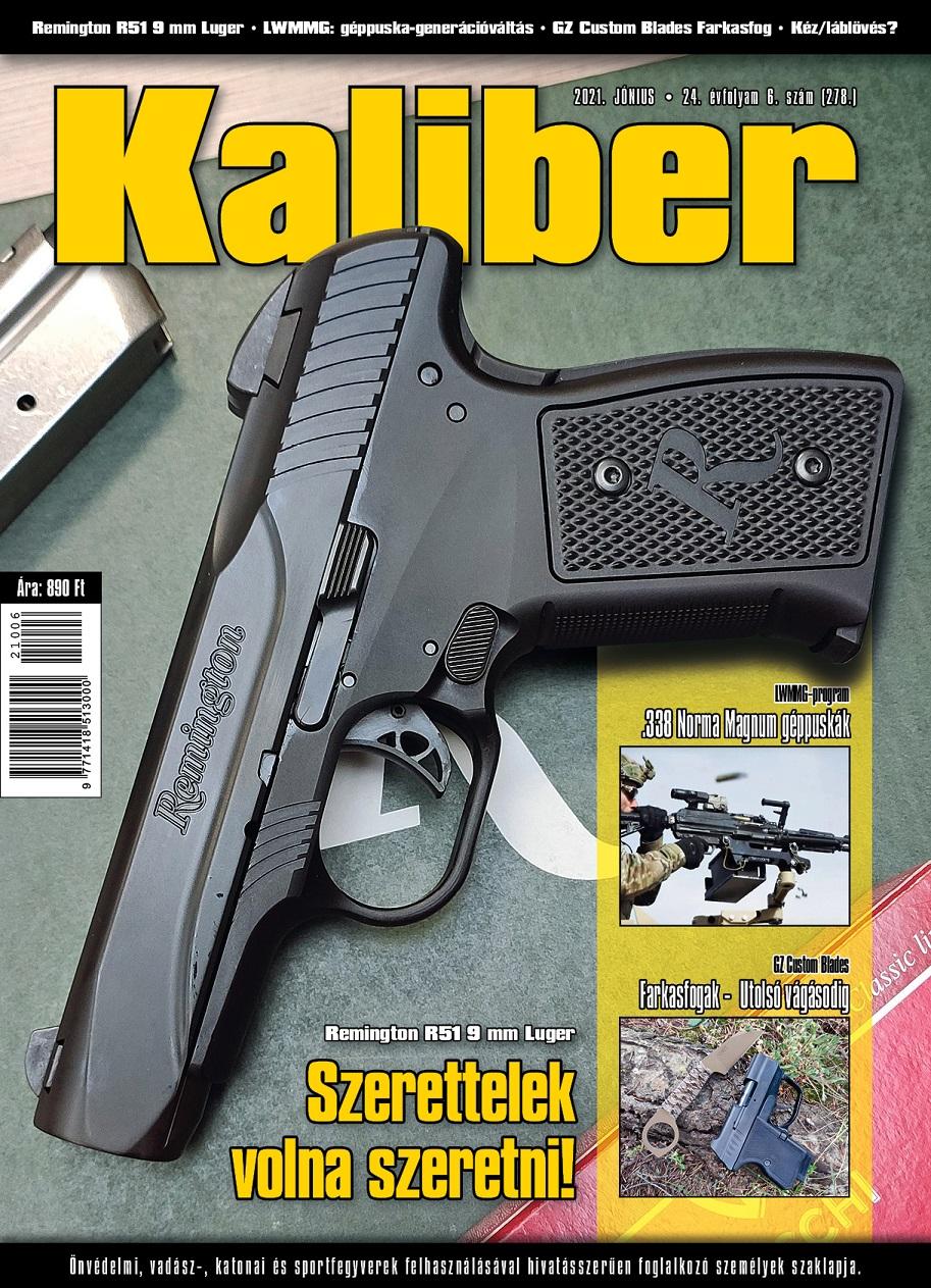 Remington R51 a 2021 JÚNIUSI Kaliber magazin címlapján lesz!