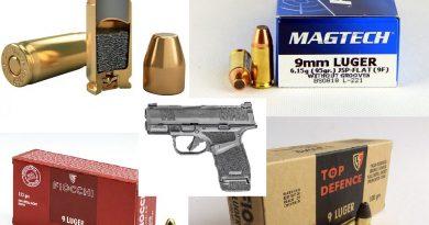 """Mini """"célballisztikai"""" tesztecske – 9 mm Luger FMJ, JSP, Black Mamba NAGYON RÖVID csőből"""